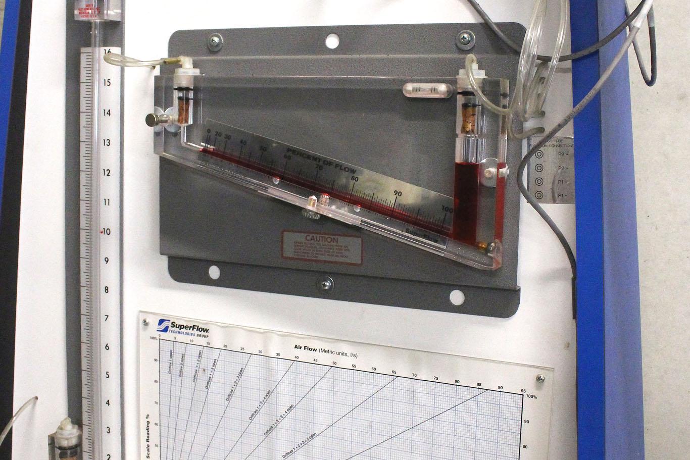 Préparation du moteur des voitures de course avec une soufflerie culasse Sperflow